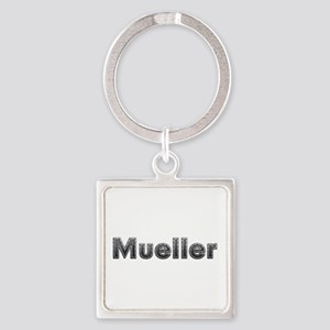 Mueller Metal Square Keychain