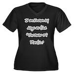 I am known Women's Plus Size V-Neck Dark T-Shirt
