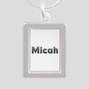 Micah Metal Silver Portrait Necklace