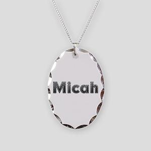 Micah Metal Oval Necklace