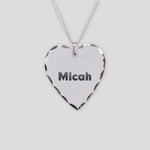 Micah Metal Heart Necklace