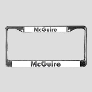 McGuire Metal License Plate Frame