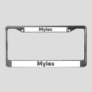Myles Metal License Plate Frame