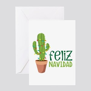 Feliz Navidad Greeting Cards Cafepress