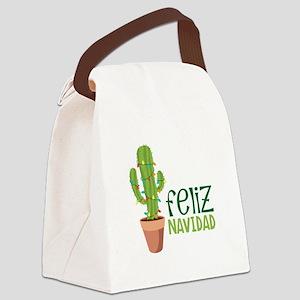 Feliz Navidad Canvas Lunch Bag