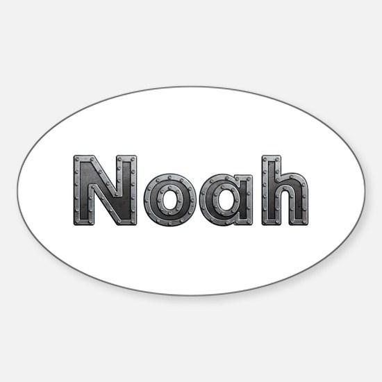 Noah Metal Oval Decal