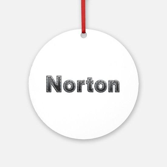 Norton Metal Round Ornament