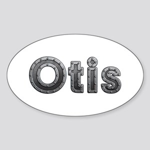 Otis Metal Oval Sticker