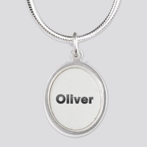 Oliver Metal Silver Oval Necklace