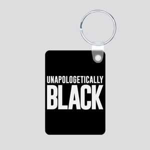 Unapologetically Black Aluminum Photo Keychain