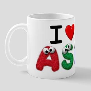 I Love ASL - Cute Eyes Mug