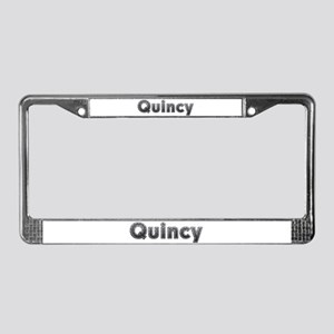 Quincy Metal License Plate Frame