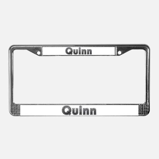 Quinn Metal License Plate Frame
