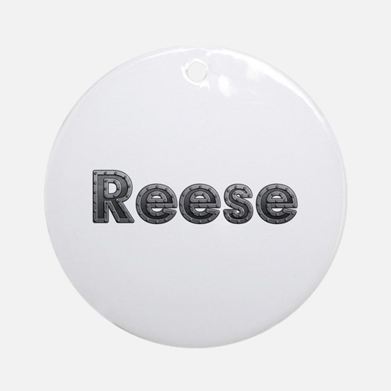 Reese Metal Round Ornament