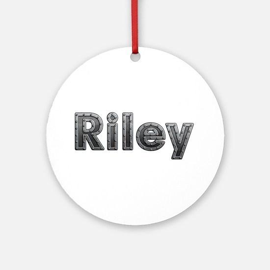 Riley Metal Round Ornament