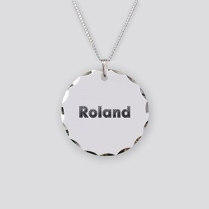Roland Metal Necklace Circle Charm