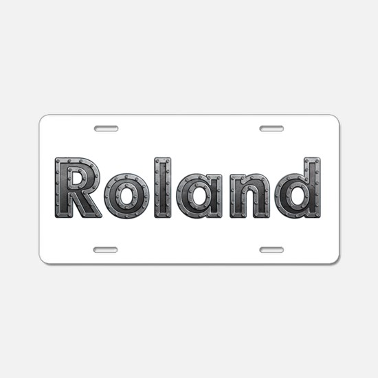 Roland Metal Aluminum License Plate