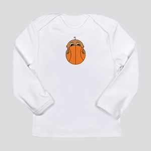 Baby Peeking Basketball (Dark Skin) Long Sleeve T-