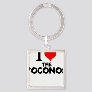 I Love The Poconos Keychains