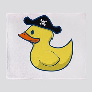 Pirate Duck Throw Blanket