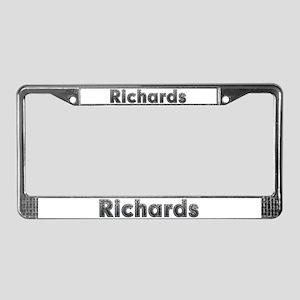 Richards Metal License Plate Frame