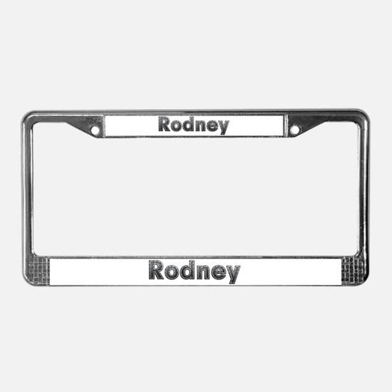 Rodney Metal License Plate Frame