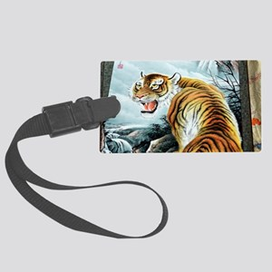 Chinese Tiger Large Luggage Tag