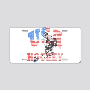 USA hockey Aluminum License Plate