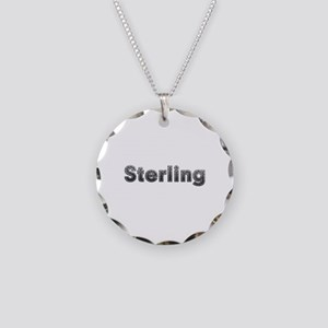 Sterling Metal Necklace Circle Charm