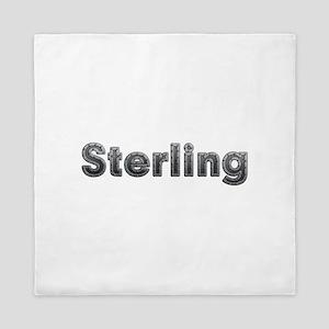Sterling Metal Queen Duvet