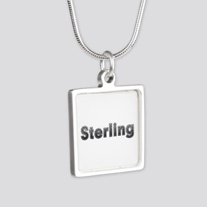 Sterling Metal Silver Square Necklace