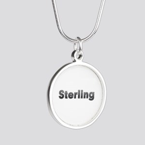 Sterling Metal Silver Round Necklace