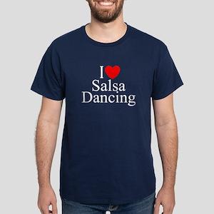 """""""I Love (Heart) Salsa Dancing"""" Dark T-Shirt"""