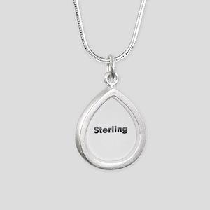 Sterling Metal Silver Teardrop Necklace