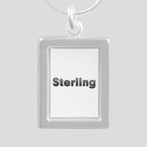 Sterling Metal Silver Portrait Necklace