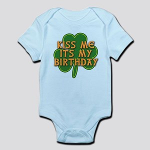 Irish Birthday with Shamrock Infant Bodysuit