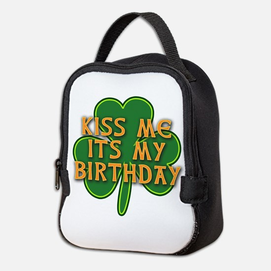 Irish Birthday with Shamrock Neoprene Lunch Bag