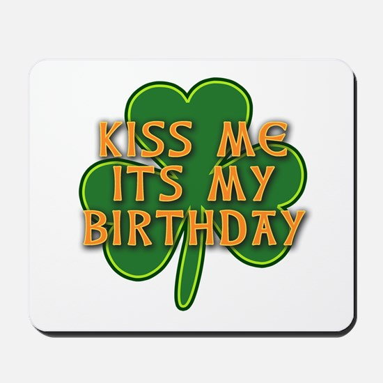 Irish Birthday with Shamrock Mousepad