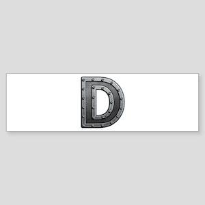 D Metal Bumper Sticker
