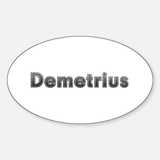 Demetrius Metal Oval Decal