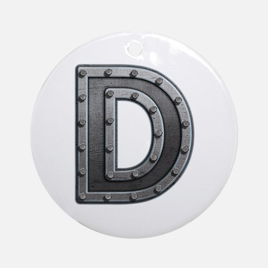 D Metal Round Ornament