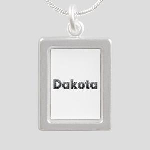 Dakota Metal Silver Portrait Necklace