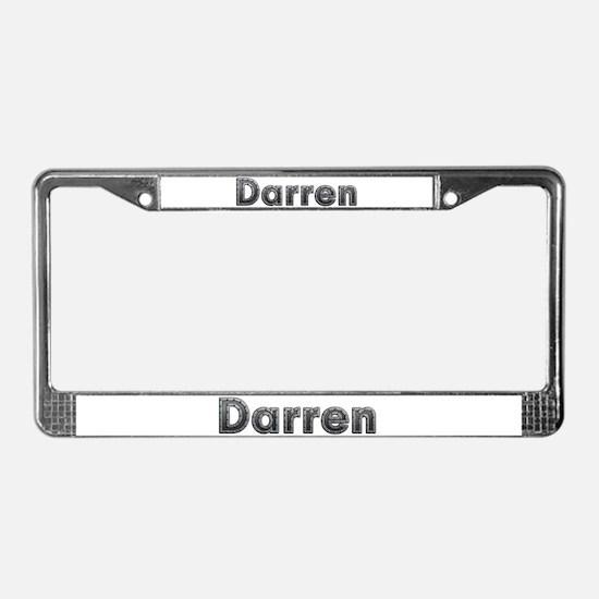 Darren Metal License Plate Frame