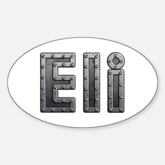 Eli Metal Oval Decal