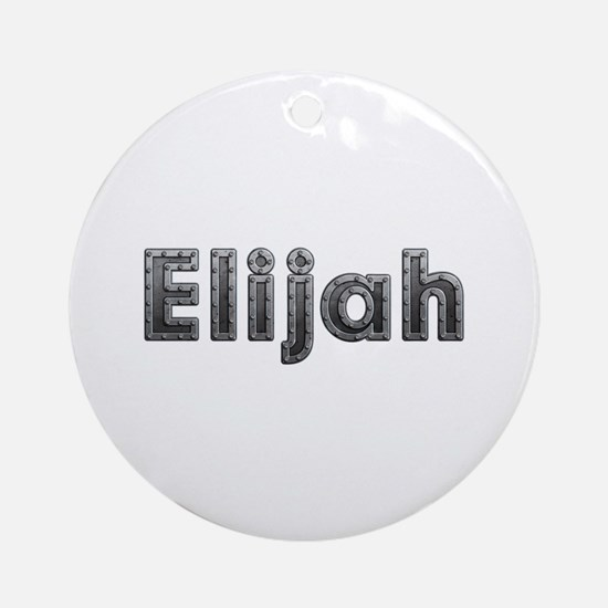 Elijah Metal Round Ornament