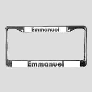 Emmanuel Metal License Plate Frame