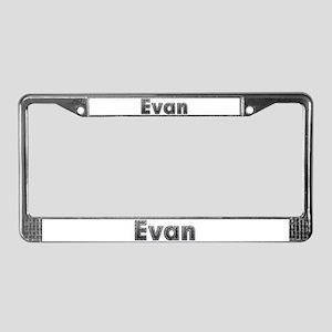 Evan Metal License Plate Frame