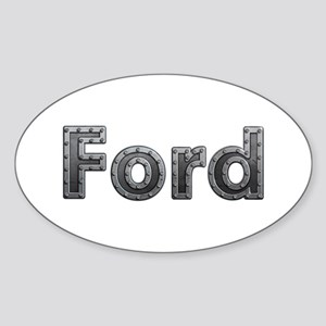 Ford Metal Oval Sticker