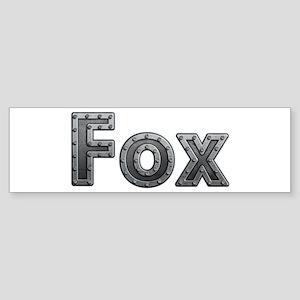 Fox Metal Bumper Sticker