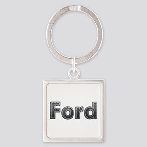 Ford Metal Square Keychain